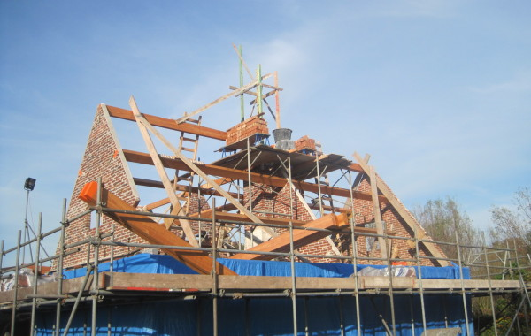 Kapconstructie voor huis te Nieuwland