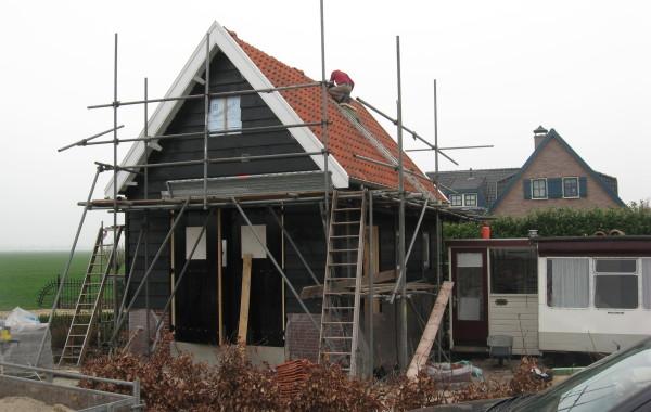 Nieuwbouw schuur te Nieuwland