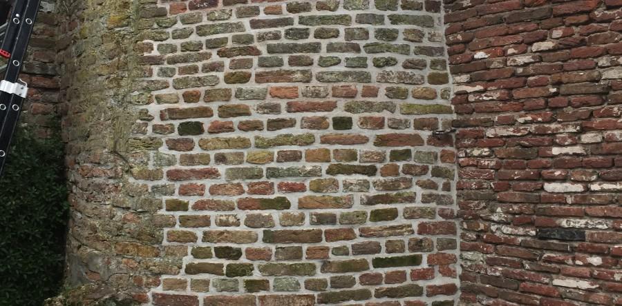 Restauratie monumentale muur Vianen